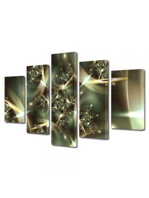 Set Tablouri Multicanvas 5 Piese Abstract Decorativ Spatiu deformat 70 x 125 cm - 44% reducere