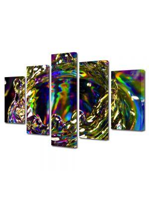 Set Tablouri Multicanvas 5 Piese Abstract Decorativ Strop