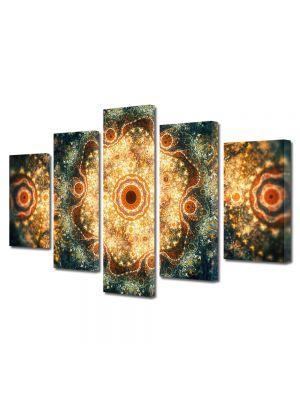Set Tablouri Multicanvas 5 Piese Abstract Decorativ Candelabre