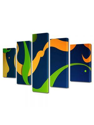 Set Tablouri Multicanvas 5 Piese Abstract Decorativ De basm
