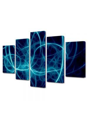 Set Tablouri Multicanvas 5 Piese Abstract Decorativ Joc de lumini