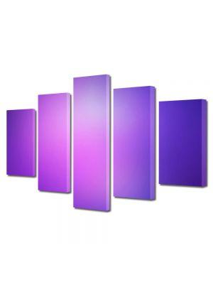 Set Tablouri Multicanvas 5 Piese Abstract Decorativ Mov