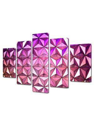 Set Tablouri Multicanvas 5 Piese Abstract Decorativ Ultramodern