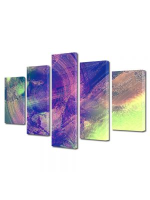 Set Tablouri Multicanvas 5 Piese Abstract Decorativ Sters