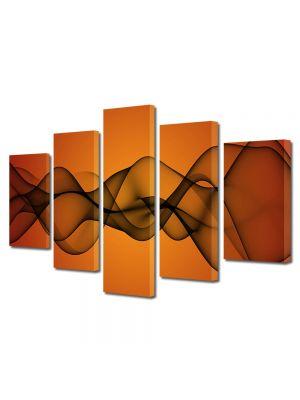 Set Tablouri Multicanvas 5 Piese Abstract Decorativ Unde de fum
