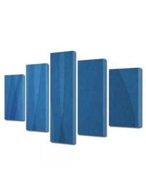 Set Tablouri Multicanvas 5 Piese Abstract Decorativ Unduire de matase
