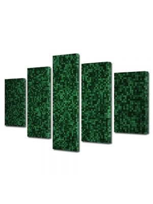 Set Tablouri Multicanvas 5 Piese Abstract Decorativ Mocheta