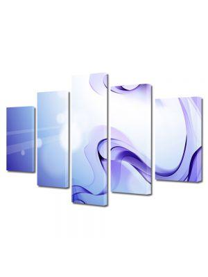 Set Tablouri Multicanvas 5 Piese Abstract Decorativ Fum violet