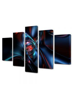 Set Tablouri Multicanvas 5 Piese Abstract Decorativ Nava spatiala