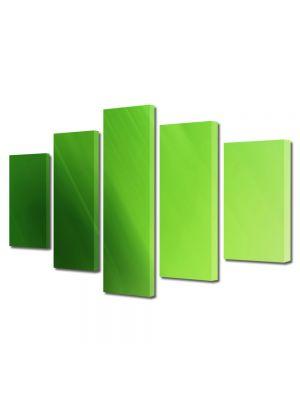 Set Tablouri Multicanvas 5 Piese Abstract Decorativ Verde