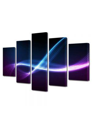 Set Tablouri Multicanvas 5 Piese Abstract Decorativ Energii