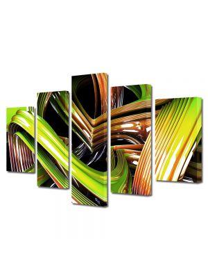 Set Tablouri Multicanvas 5 Piese Abstract Decorativ Sticla colorata