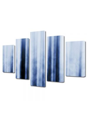 Set Tablouri Multicanvas 5 Piese Abstract Decorativ Fascicule luminoase