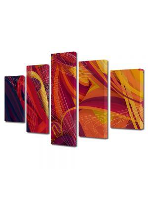 Set Tablouri Multicanvas 5 Piese Abstract Decorativ Spirite