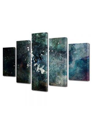 Set Tablouri Multicanvas 5 Piese Abstract Decorativ Artistic