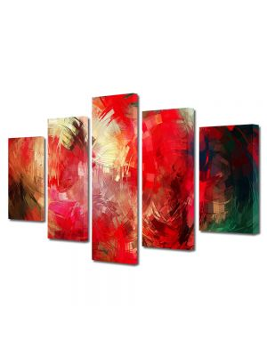 Set Tablouri Multicanvas 5 Piese Abstract Decorativ Pictura contemporana