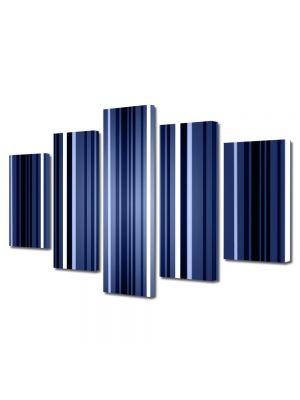 Set Tablouri Multicanvas 5 Piese Abstract Decorativ Dungi verticale