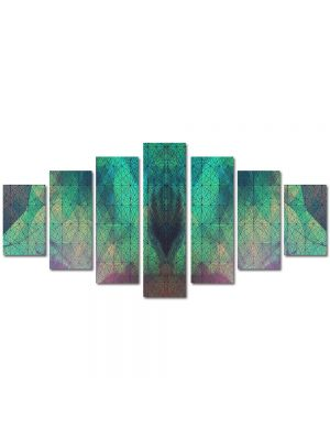Set Tablouri Multicanvas 7 Piese Abstract Decorativ Arta contemporana