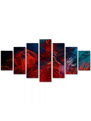 Set Tablouri Multicanvas 7 Piese Abstract Decorativ Compozitie