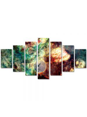 Set Tablouri Multicanvas 7 Piese Abstract Decorativ Spatiu