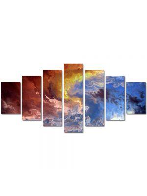 Set Tablouri Multicanvas 7 Piese Abstract Decorativ Furtuna
