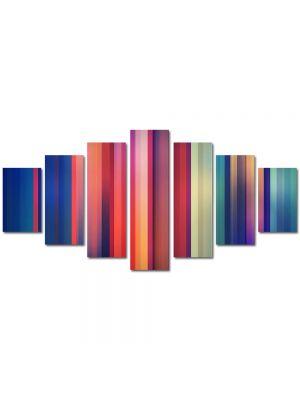 Set Tablouri Multicanvas 7 Piese Abstract Decorativ Spectru color