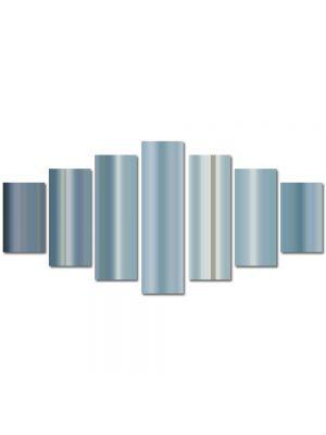 Set Tablouri Multicanvas 7 Piese Abstract Decorativ Gri