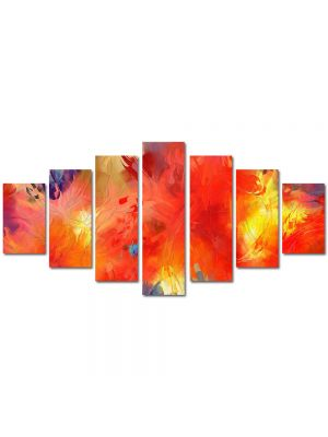 Set Tablouri Multicanvas 7 Piese Abstract Decorativ Univers