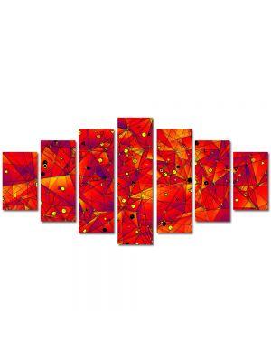 Set Tablouri Multicanvas 7 Piese Abstract Decorativ Aproape de soare