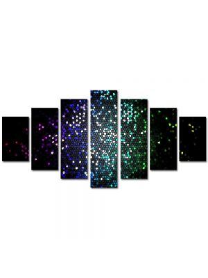 Set Tablouri Multicanvas 7 Piese Abstract Decorativ Tari