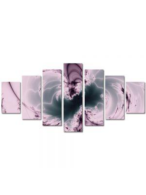 Set Tablouri Multicanvas 7 Piese Abstract Decorativ Negativ