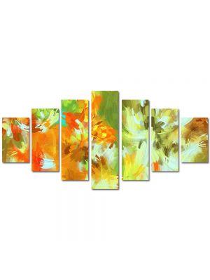 Set Tablouri Multicanvas 7 Piese Abstract Decorativ Camuflaj deschis