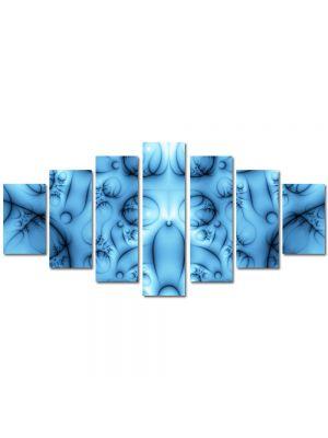 Set Tablouri Multicanvas 7 Piese Abstract Decorativ Colaj albastru