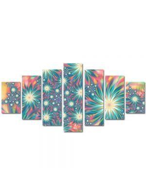 Set Tablouri Multicanvas 7 Piese Abstract Decorativ Exotic