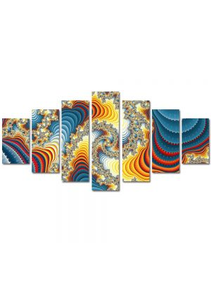 Set Tablouri Multicanvas 7 Piese Abstract Decorativ Diamante