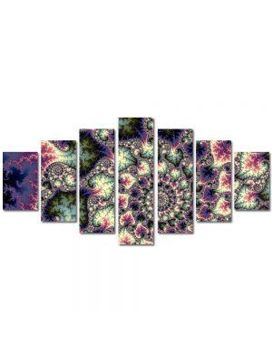 Set Tablouri Multicanvas 7 Piese Abstract Decorativ Perle