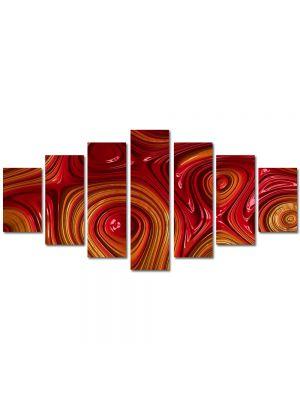 Set Tablouri Multicanvas 7 Piese Abstract Decorativ Unduiri de lumina