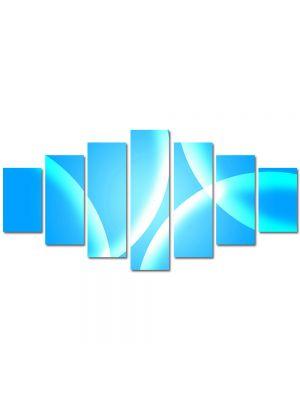 Set Tablouri Multicanvas 7 Piese Abstract Decorativ Bule albastre