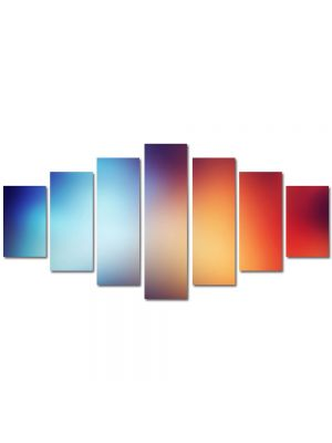 Set Tablouri Multicanvas 7 Piese Abstract Decorativ Halou