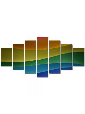 Set Tablouri Multicanvas 7 Piese Abstract Decorativ Dealuri multicolore
