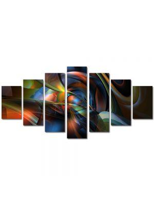 Set Tablouri Multicanvas 7 Piese Abstract Decorativ Sinusoidale