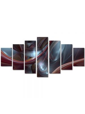 Set Tablouri Multicanvas 7 Piese Abstract Decorativ Plasma