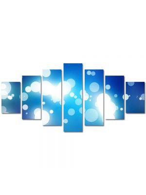 Set Tablouri Multicanvas 7 Piese Abstract Decorativ Pete de lumina