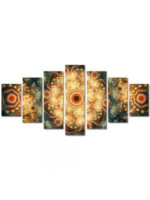 Set Tablouri Multicanvas 7 Piese Abstract Decorativ Candelabre