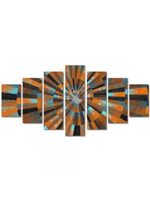 Set Tablouri Multicanvas 7 Piese Abstract Decorativ Scara abstracta