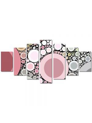 Set Tablouri Multicanvas 7 Piese Abstract Decorativ Margele