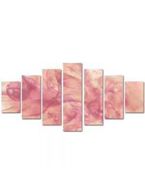 Set Tablouri Multicanvas 7 Piese Abstract Decorativ Fum roz