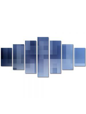 Set Tablouri Multicanvas 7 Piese Abstract Decorativ Carouri