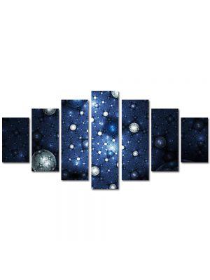 Set Tablouri Multicanvas 7 Piese Abstract Decorativ Constelatii