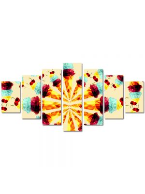 Set Tablouri Multicanvas 7 Piese Abstract Decorativ Supraexpus